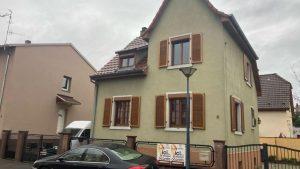 Pose de panneau pour un chantier dans une maison à Bischheim